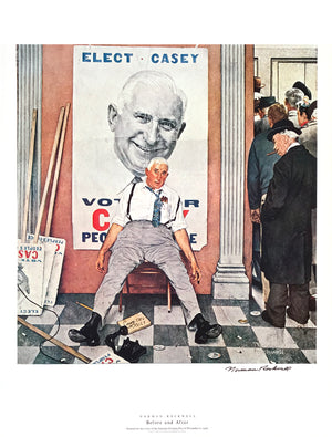 "Norman Rockwell - ""Before and After"" - Signed Offset Print - 19 x 25"""