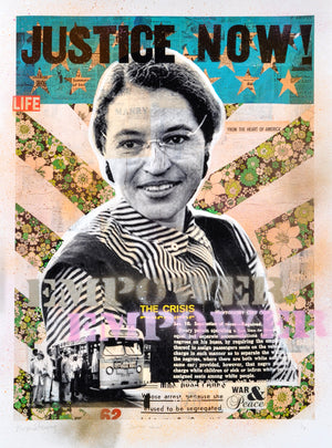 """Justice Now!"" - Rosa Parks by Robert Mars - HAND-EMBELLISHED UNIQUE PRINT #1/2"