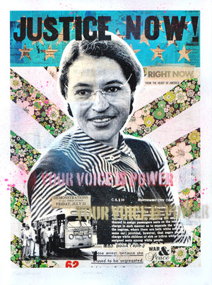 """Justice Now!"" - Rosa Parks by Robert Mars - HAND-EMBELLISHED UNIQUE PRINT #2/2"