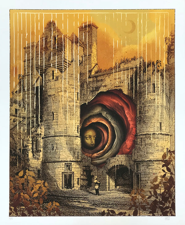 "Alex Eckman-Lawn ""Entrance"" - Hand-Embellished Unique Variant, #4/5 - 14 x 17"""