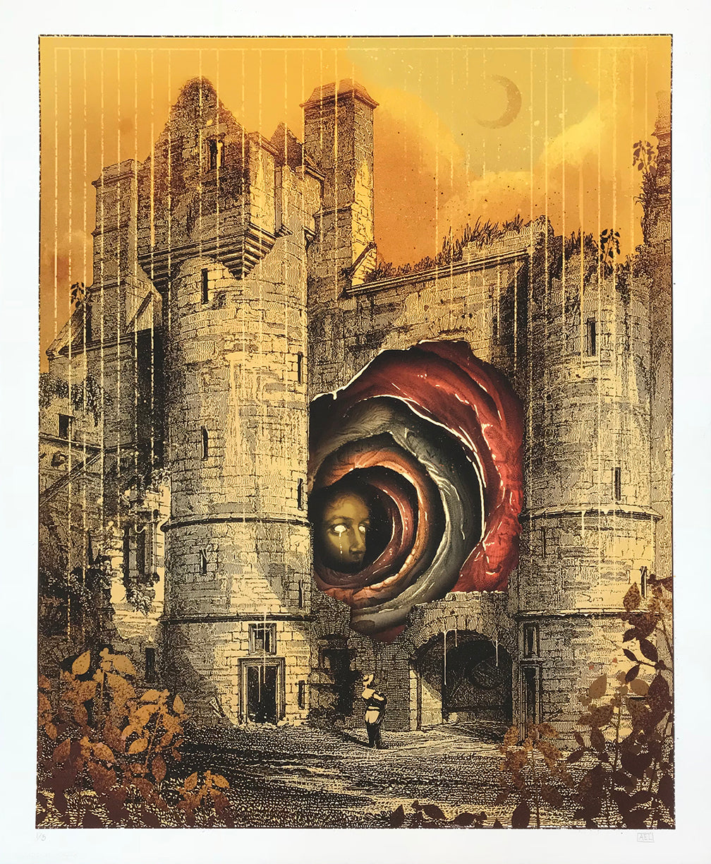 "Alex Eckman-Lawn ""Entrance"" - Hand-Embellished Unique Variant, #1/5 - 14 x 17"""