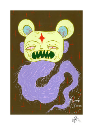 """Evil Bear"" by LURK - Limited Edition, Archival Print"