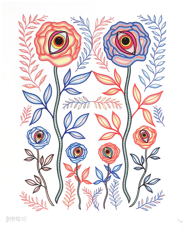 "Bonethrower - ""Eye Roses"" - Archival Print, Limited Edition of 40 - 14 x 17"""