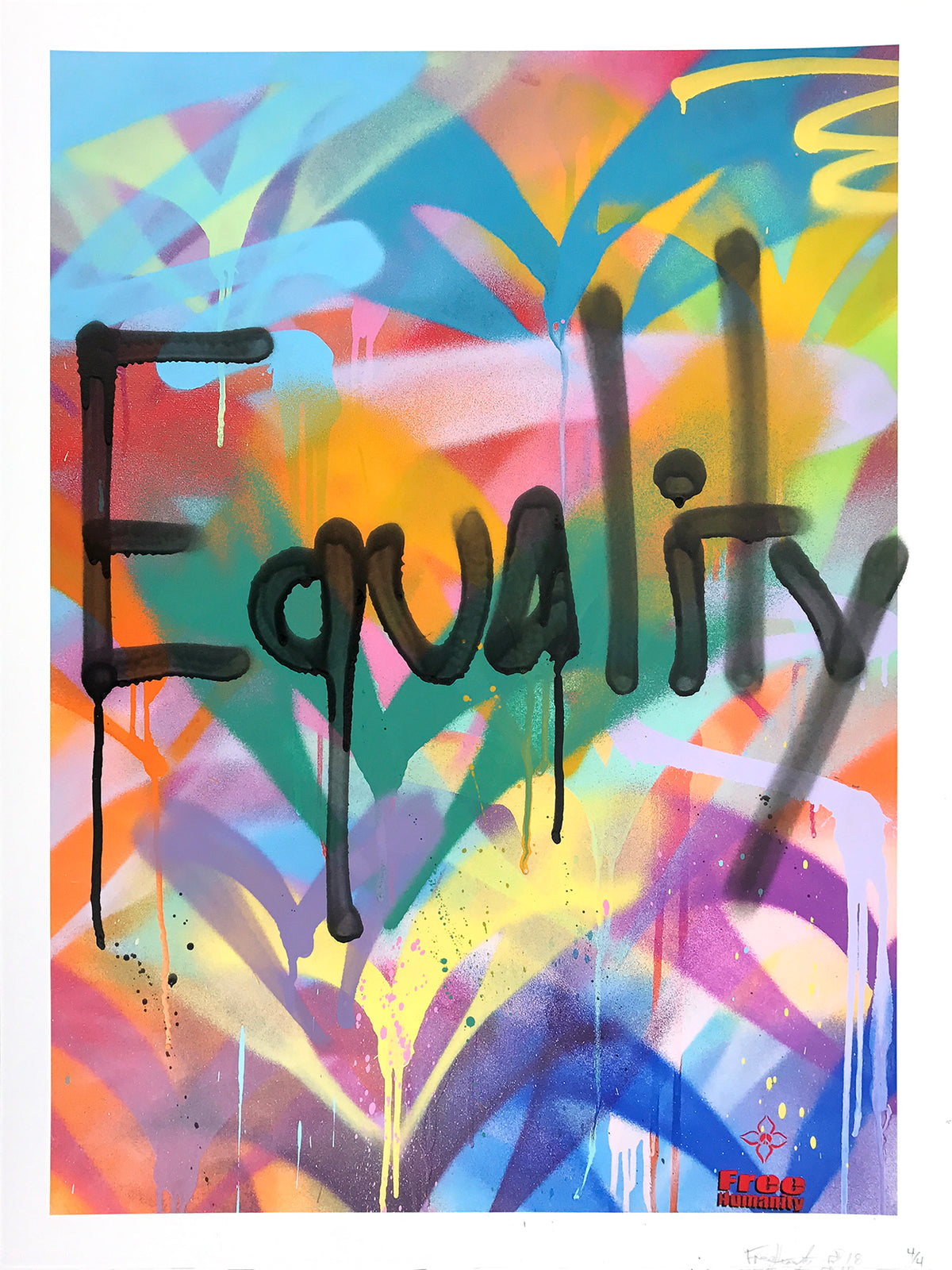 "Free Humanity ""FH Signature Style: Equality"" - Hand-Embellished Unique Print, #3/4 - 18 x 24"""