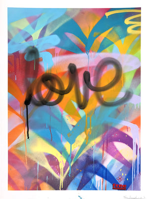 """FH Signature Style: Love"" by Free Humanity - Hand-Embellished Unique Print, #1/4 - 18 x 24"""