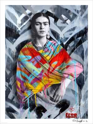 """Frida Kahlo"" by Free Humanity - Limited Edition, Archival Print - 18 x 24"""