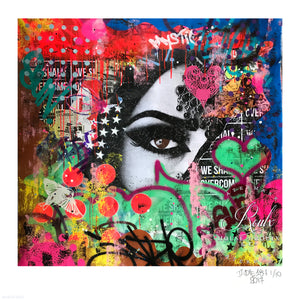 """Fatima"" by Indie 184 - Limited Edition, Archival Print - 17 x 17"""