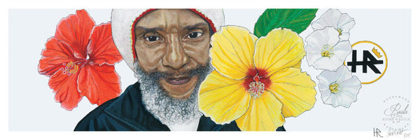 """H.R. (of Bad Brains)"" by Lori Carns Hudson - Limited Edition, Archival Print"