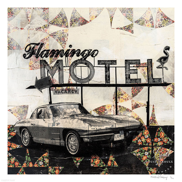 """Flamingo Motel"" by Robert Mars - Limited Edition, Archival Print"