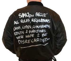 "Al Diaz ""SAMO©…"" - Original Hand-Painted Flight Jacket"