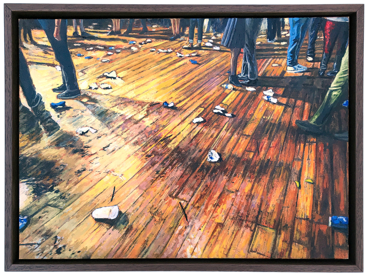 "Andrew Houle ""Floor of the House of Blues"" - Original Oil Painting on Wood - 9 x 12"""