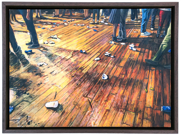 """Floor of the House of Blues"" by Andrew Houle - Original Oil Painting on Wood - 9 x 12"""