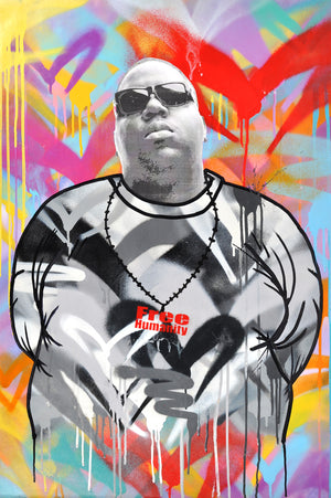 """Notorious B.I.G."" by Free Humanity - Original Painting - 24 x 36"""