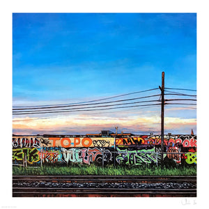 "Andrew Houle ""Free Wall II"" - Archival Print, Limited Edition of 25 - 17 x 17"""