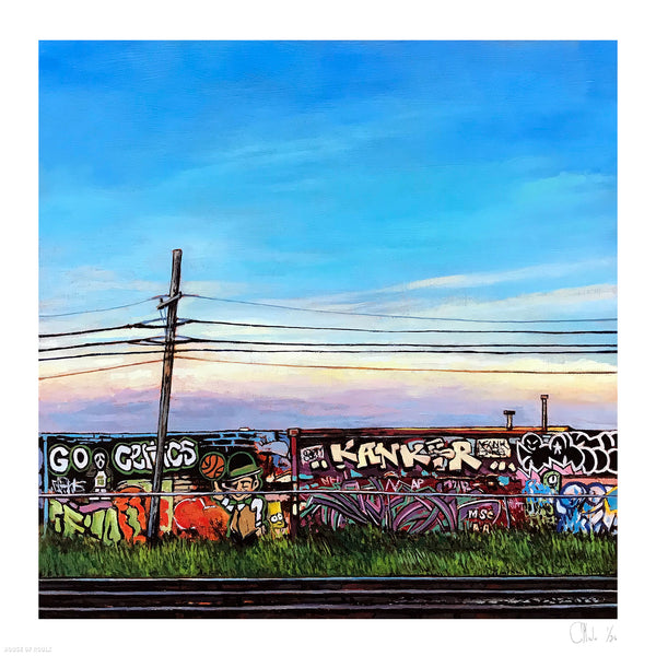 "Andrew Houle ""Free Wall I"" - Archival Print, Limited Edition of 25 - 17 x 17"""