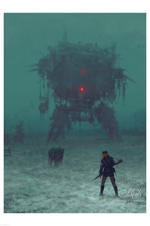 """1920 - Frozen Field"" by Jakub 'Mr. Werewolf' Rozalski - Fine Art Print"