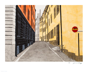 "James McClung ""Gamla Stan"" - Limited Edition, Archival Print - 14 x 17"""