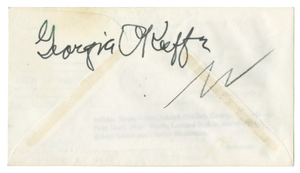 Jasper Johns, Georgia O'Keeffe & 7 Other Icons - Signed First Day Cover - 1961