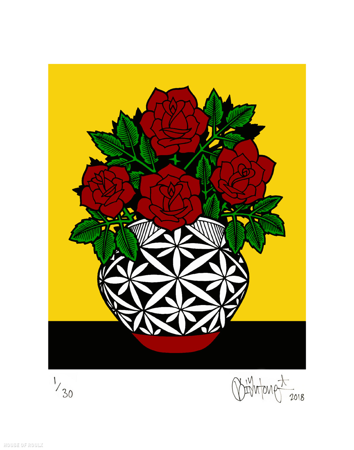 "Mike Giant ""Acoma Pot"" - Archival Print, Limited Edition of 30 - 11 x 14"""
