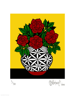 """Acoma Pot"" by Mike Giant - Archival Print, Limited Edition of 30 - 11 x 14"""