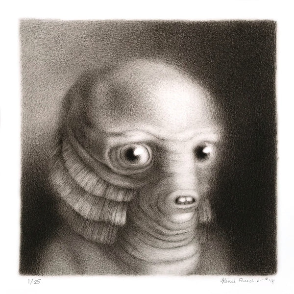 """Gillman"" by Renee French - Archival Print, Edition of 25 - 12 x 12"""