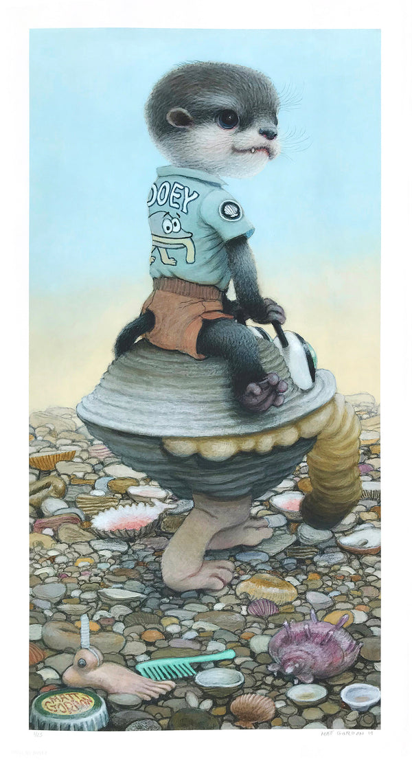 "Matt Gordon ""Gooey's Clam Car"" - Archival Print, Limited Edition of 25 - 13 x 24"""