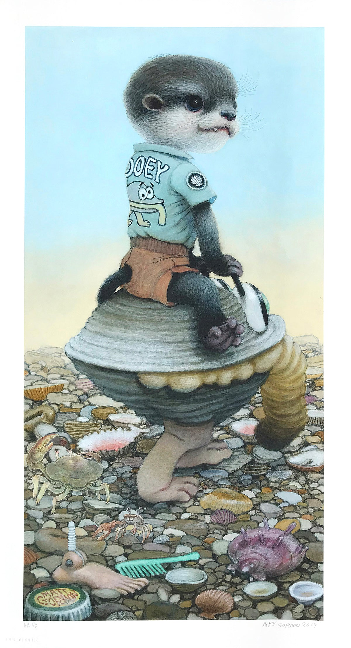 "Matt Gordon ""Gooey's Clam Car"" - Hand-Embellished Variant, #1/5 - 13 x 24"""