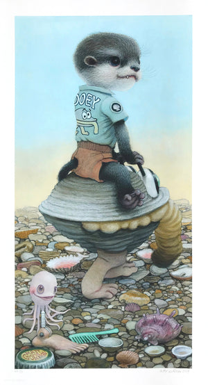 "Matt Gordon ""Gooey's Clam Car"" - Hand-Embellished Variant, #2/5 - 13 x 24"""