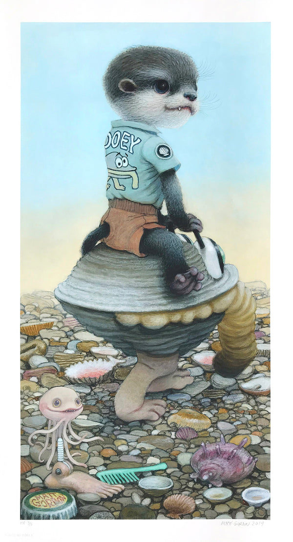 "Matt Gordon ""Gooey's Clam Car"" - Hand-Embellished Variant, #3/5 - 13 x 24"""