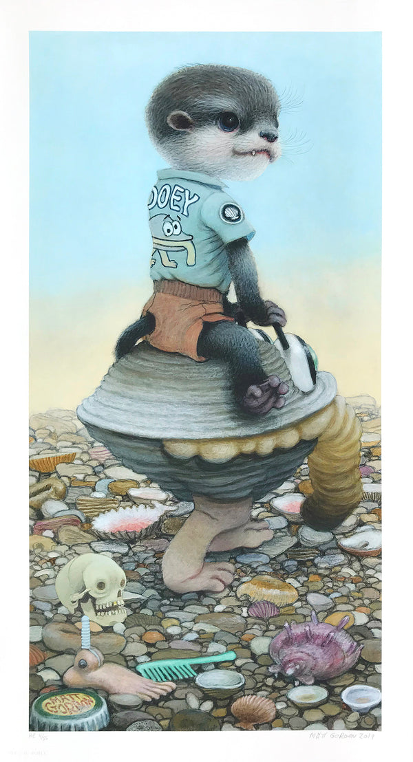 "Matt Gordon ""Gooey's Clam Car"" - Hand-Embellished Variant, #4/5 - 13 x 24"""