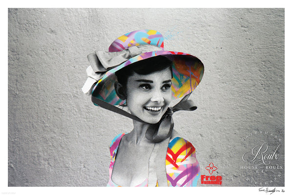 """Hepburn's Humanity"" by Free Humanity - Limited Edition, Archival Print - 24 x 36"""