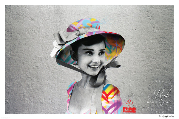 """Hepburn's Humanity"" by Free Humanity - Limited Edition, Archival Print - 11 x 17"""
