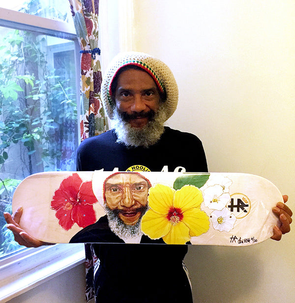 """H.R. (of Bad Brains)"" by Lori Carns Hudson - Limited Edition Skateboard Deck Bundle"