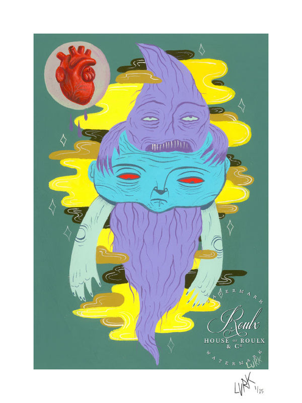 """The Head and the Heart"" by LURK - Limited Edition, Archival Print"