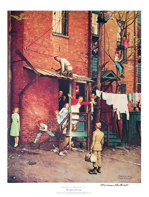"Norman Rockwell - ""Homecoming"" - Signed Offset Print - 19 x 25"""
