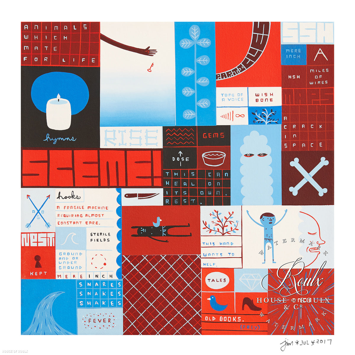 "Jim Houser ""Sceme!"" - Archival Print, Limited Edition of 40 - 12 x 12"""