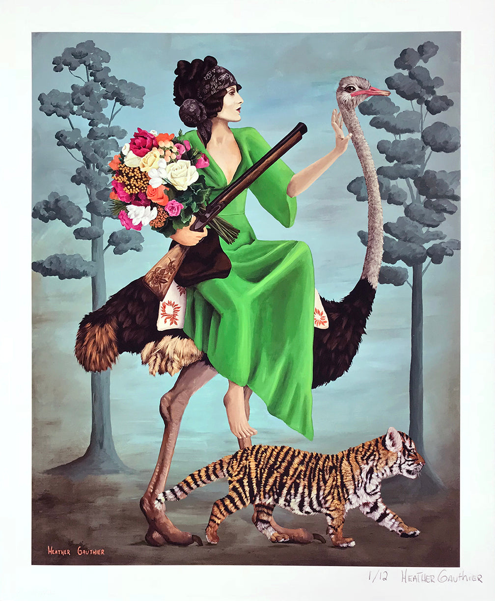 "Heather Gauthier ""Huntress-Gatheress"" - Archival Print, Limited Edition of 12 - 14 x 17"""