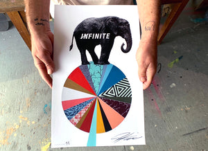 "Jeremiah Kille ""Infinite"" - Hand-Embellished Variant Edition of 5 - 11 x 17"""