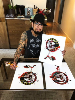 "Dave Navarro and Brian J. Hoffman ""A Tsar is Born"" - Hand-Embellished Variant, 1 of 3 - 14 x 17"""
