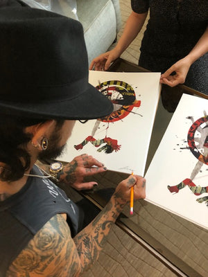 "Dave Navarro and Brian J. Hoffman ""Wish Upon a Tsar"" - Hand-Embellished Variant, 1 of 3 - 14 x 17"""