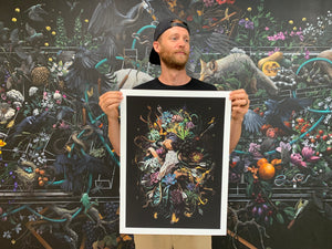 "Jake Messing ""Midnight's Breath"" - Hand-Embellished Variant, #1/5 - 18 x 24"""