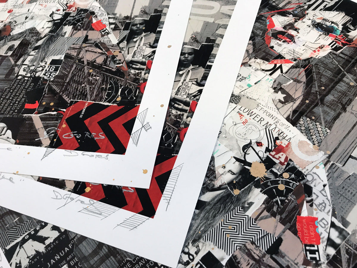 "Derek Gores ""Full Volume Brooklyn Bridge"" - Hand-Embellished Unique Print, #3/3"