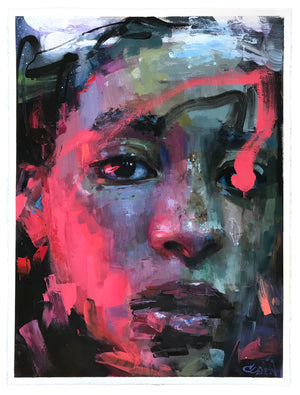 "Danielle Coenen ""Infrared"" - Original Painting on Paper - 22 x 30"""