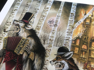 "Joe Vollan ""So Long Shady Acres"" - Hand-Embellished Variant, #1/3 - 15 x 24"""
