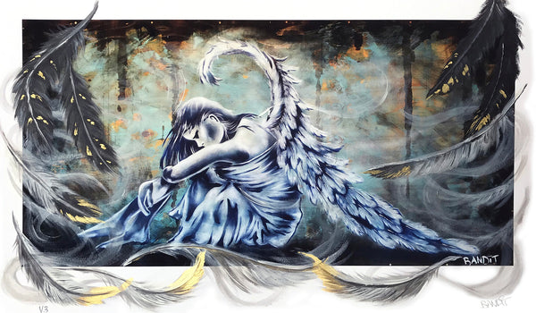 "Bandit ""Mystical Wings"" - Hand-Embellished Variant, #1/3 - 14 x 24"""