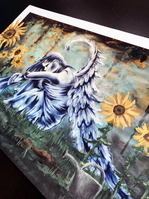 "Bandit ""Mystical Wings"" - Hand-Embellished Variant, #2/3 - 14 x 24"""