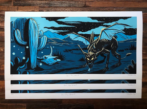 "The Draculas ""Devil Dog Desert"" - Archival Print, Limited Edition of 12 - 12 x 24"""