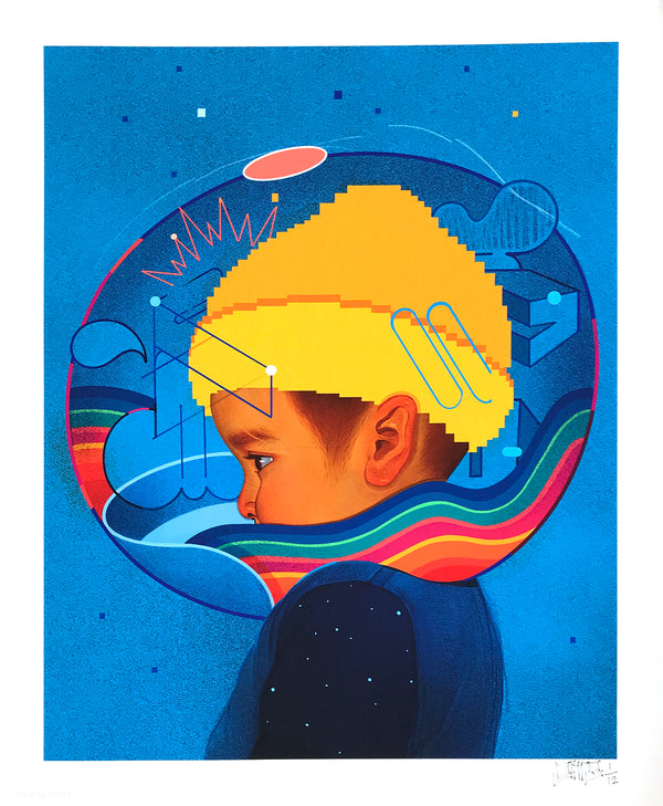 "Sam Rodriguez ""Kid with Yellow Beanie"" - Archival Print, Limited Edition of 12 - 14 x 17"""