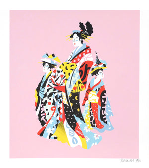 "Brolga ""Hokusai Pop Geishas"" - Archival Print, Limited Edition of 15 - 15 x 17"""