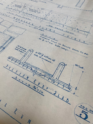 Frank Lloyd Wright - Original 'Fallingwater' Working Blueprint